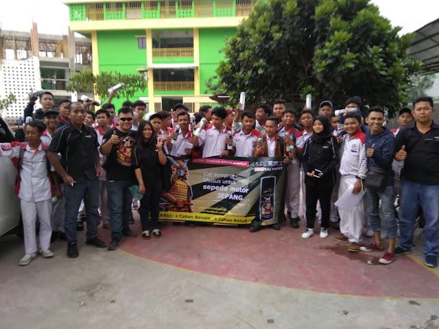 Puluhan Motor Pelajar SMK BKM Disemprot Samurai Paint