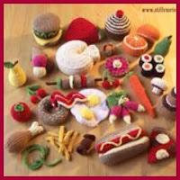 Comida de juguete amigurumi