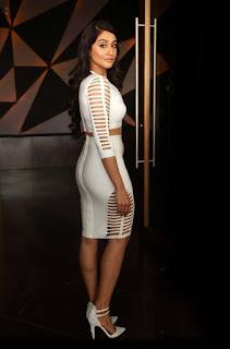 Actress Regina Candra Stills in White Sylish Dress at International Phenomenon Sensation Press Meet  0038