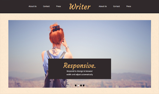 Writer Responsive Blogger Template | Templateism