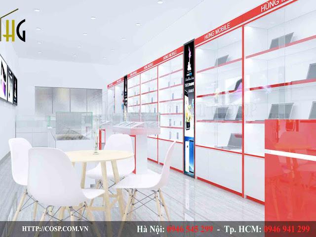 thiết kế cửa hàng điện thoại chuyên nghiệp