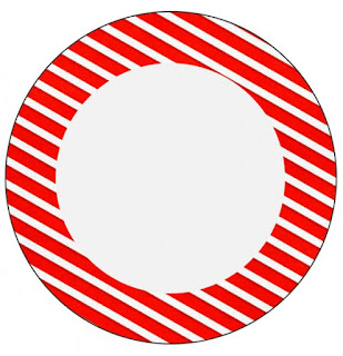 Toppers o Etiquetas de Navidad a Rayas para imprimir gratis.