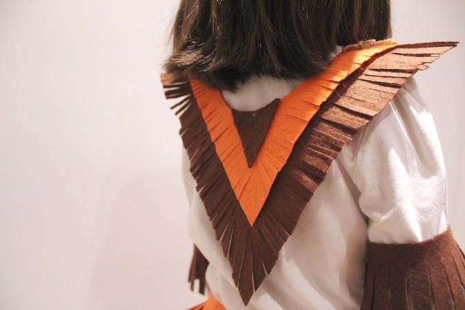 disfraz infantil casero de india.