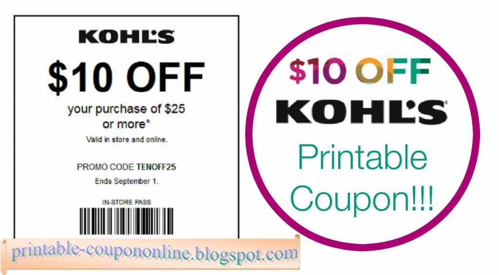 store printable coupons kohls