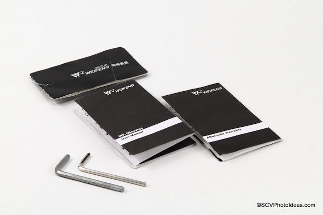 Weifeng WF-595T Tripod docs and tools