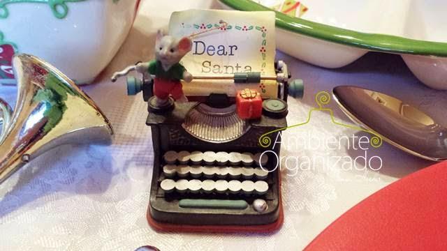 Máquina de escrever cartas para o Papai Noel