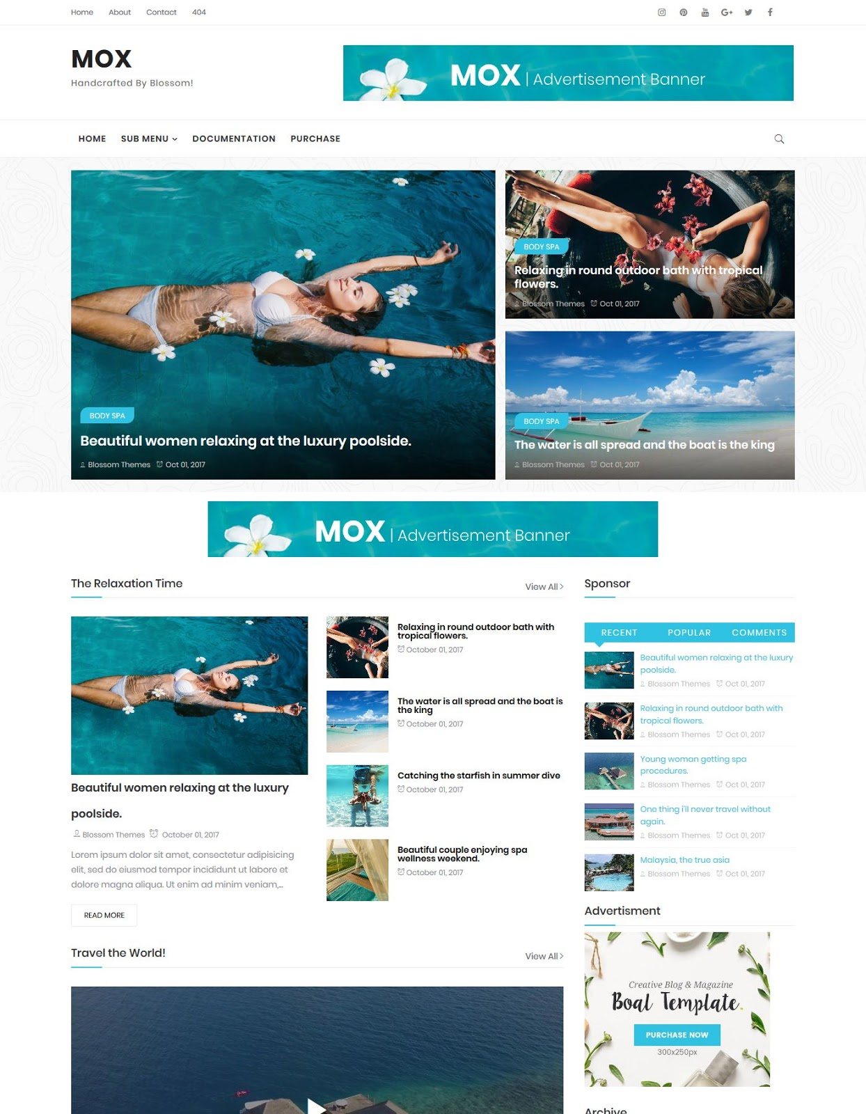 Mox Blogger Template