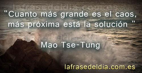 Frases de la vida Mao Tse-Tung