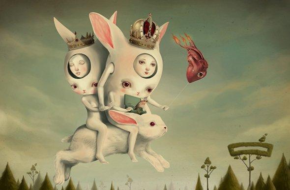 Roby Dwi Antono pinturas ilustrações surreais bizarras fofas macabras