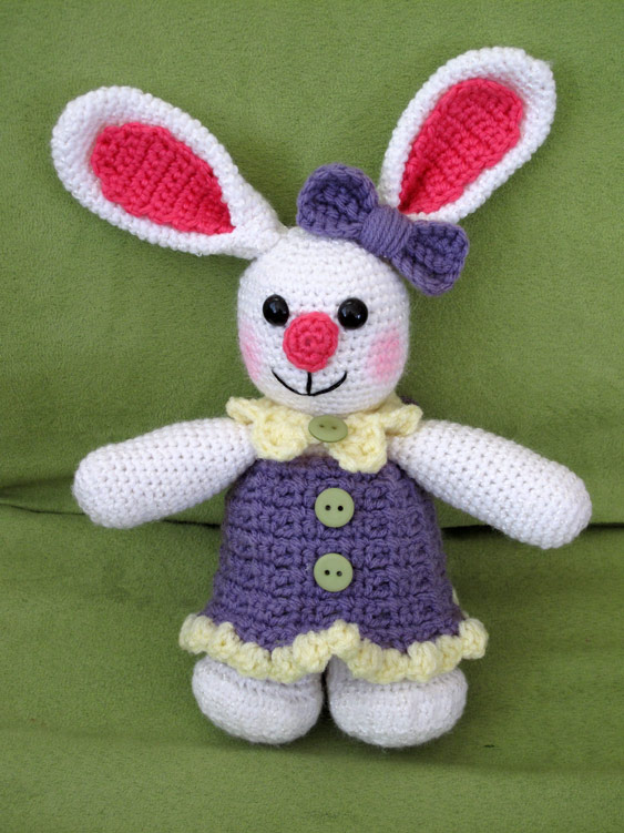 Spring Crochet Projects - Crochet Girl Bunny
