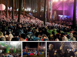 Konser Musik LaLaLa Fest 2019 di Alam Terbuka Cikole