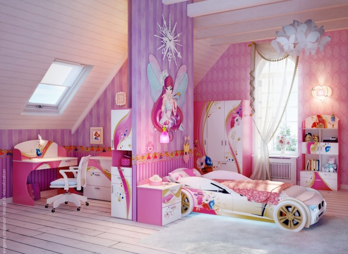 7 Inspiring Kid Room Color Options For Your Little Ones: Hogares Frescos: 100 Diseños De Habitaciones Para Niñas