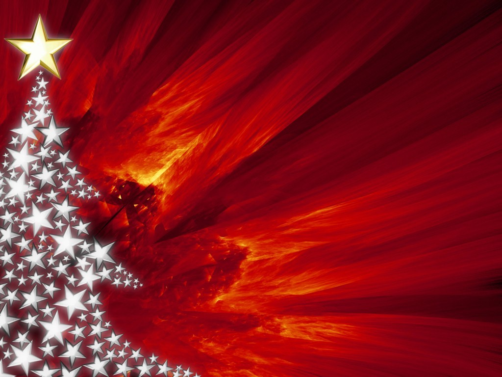 red christmas tree background - photo #20