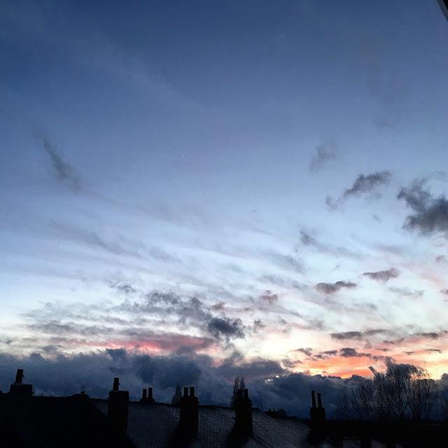 Rainy Monday sunset