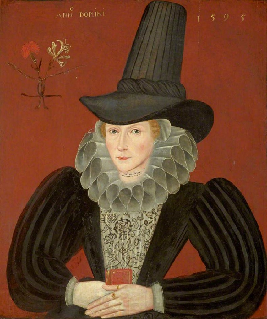 Esther Inglis Kello (Embroiderer, calligrapher, & miniaturist, 1571-1624)  1595, Scottish National Portrait Gallery. In this portrait, painted at  about the ...