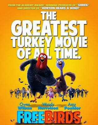 Poster Of Hollywood Film Free Birds (2013) In 300MB Compressed Size PC Movie Free Download At worldfree4u.com