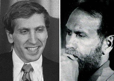Robert Fischer en dos etapas bien diferentes de su vida
