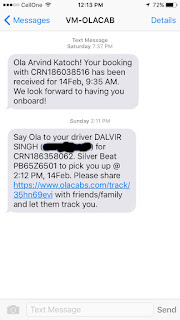 Ola Can, Confirmation, Message