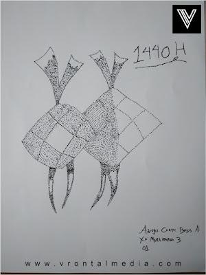 contoh gambar pointilis ketupat