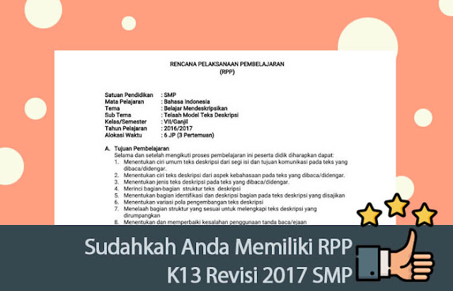 RPP K13 Revisi 2017 SMP