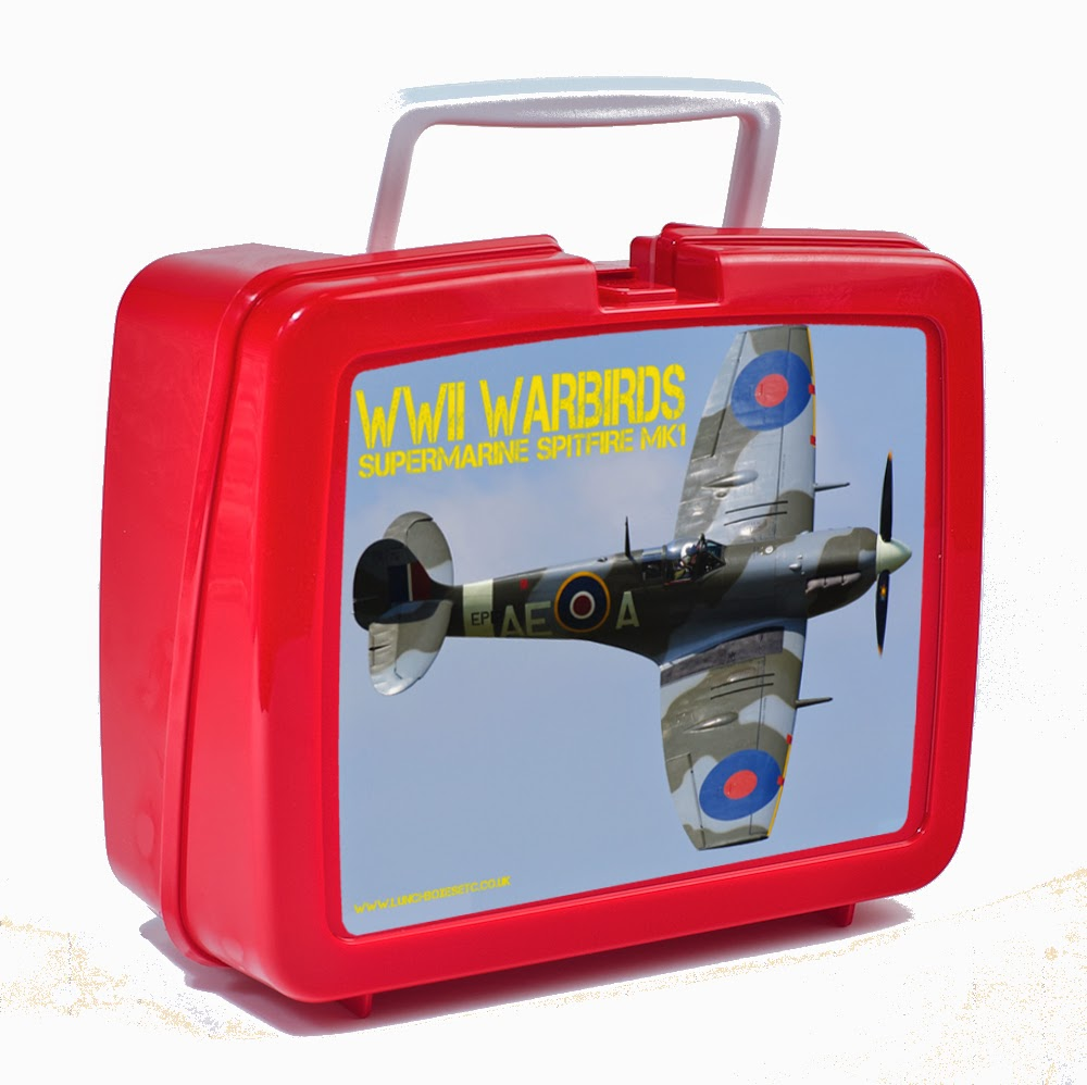spitfire lunch box red