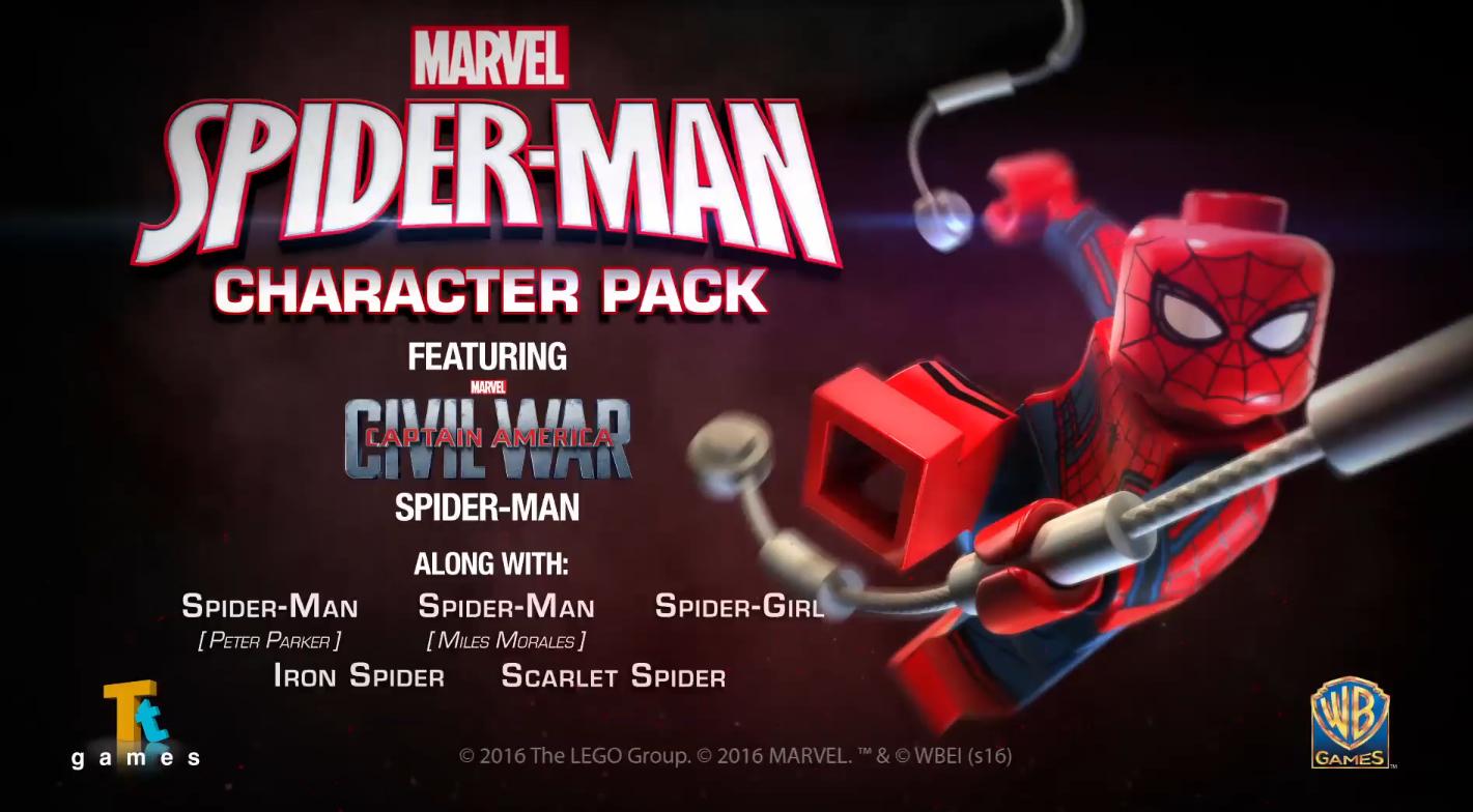 Lego Spiderman Malvorlagen Star Wars 1 Lego Spiderman: LEGO MARVEL'S AVENGERS Video Game SPIDER-MAN Character