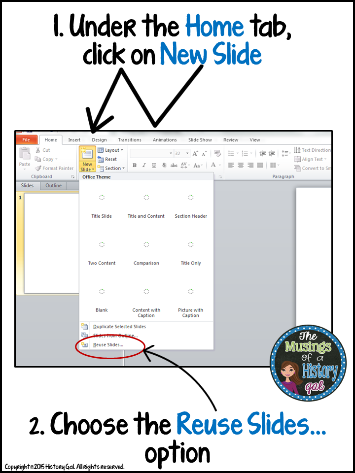 Reuse Slides Powerpoint : reuse, slides, powerpoint, PowerPoint, Hack:, Reuse, Slides, History