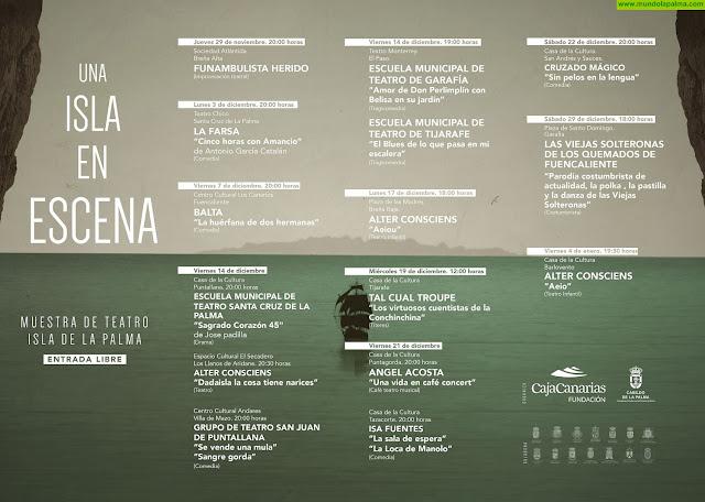 El ciclo teatral 'Una isla en escena' lleva nuevas funciones a Puntagorda, Tazacorte y San Andrés y Sauces