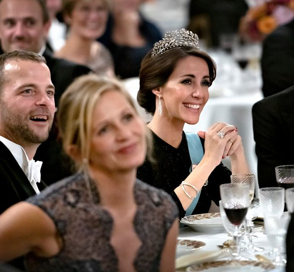 Crown Princess Mary wore Jesper Hovring gown, her first worn Bambi Award in Berlin, Princess Marie wearing Ole YDE gown. Princess Benedikte