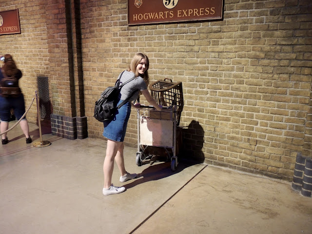 Me at Platform 9 3/4- Platform 9 and three quarters.