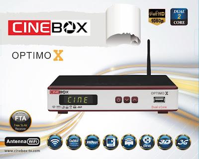 Cinebox%2BOptimo%2BX - CINEBOX OPTIMO X NOVA ATUALIZAÇÃO - 22/01/2018