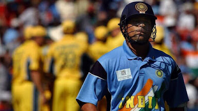 Sachin Tendulkar dismissed by Glenn McGrath, India vs Australia 2003 Cricket World Cup Final