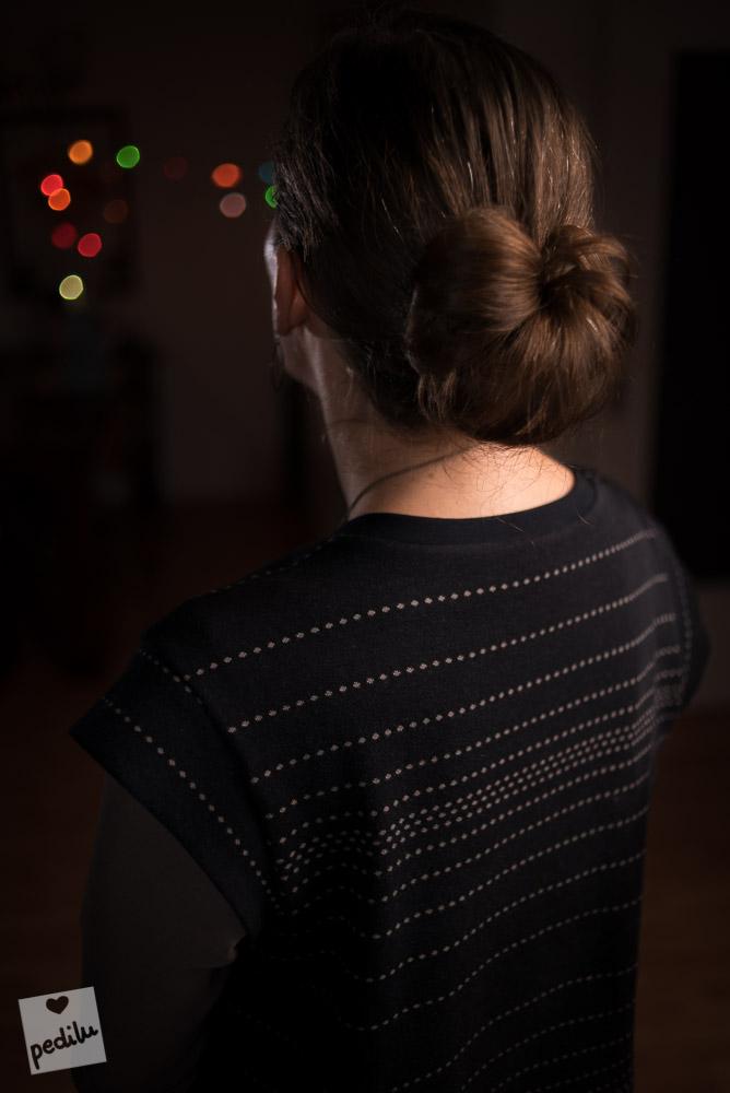 Die Frisur zum Weihnachtskleid: Ein Angelbun (Engelsdutt)