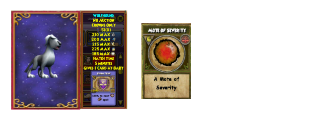 Wizard101 wolfhound, mote of severity drop location