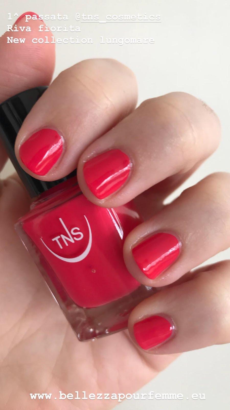 1 applicazione TNS Cosmetics SS 2018 Lungomare smalto Riva Fiorita