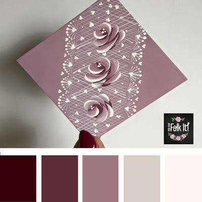 Dusky pinks and deep burgundy's work so well together in this colour palette
