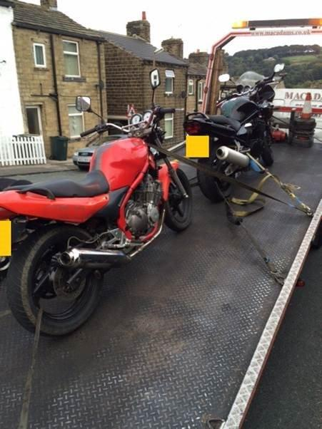 Two more nuisance bikes seized in police crackdown