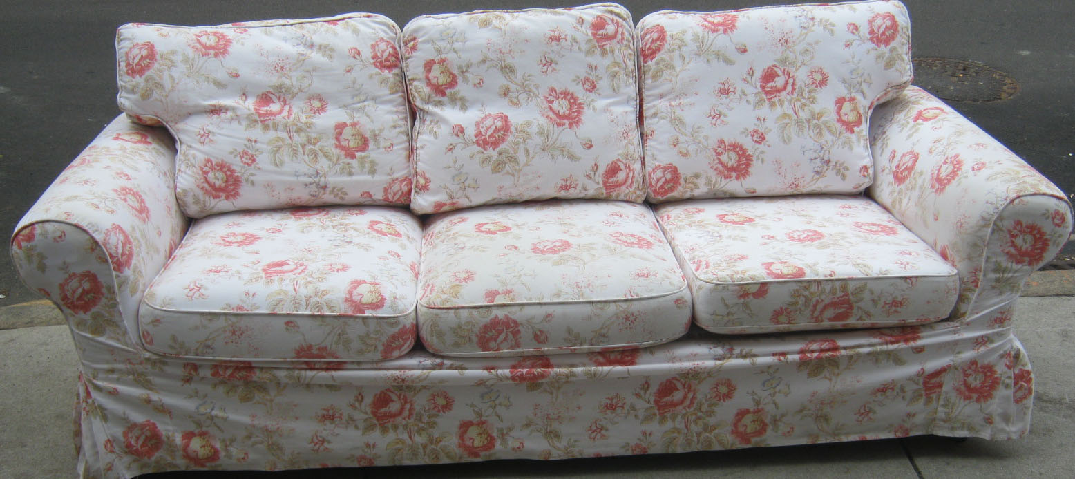 Uhuru Furniture & Collectibles: Floral Sofa And Loveseat