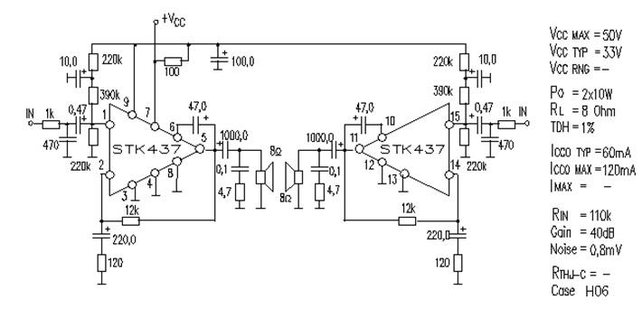 afici u00f3n electr u00f3nica  amplificador stk437