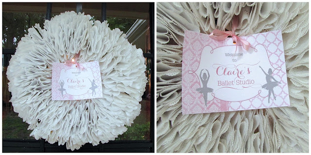 paper doily wreath diy