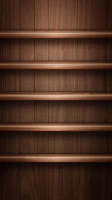 Clean Wood Shelves For iPhone 5