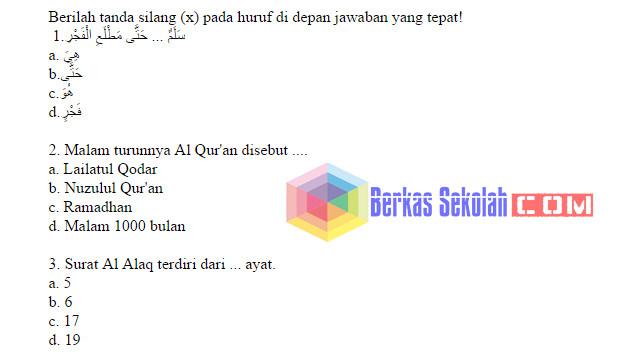 Bank Soal PAI SD Kelas 6 Kurikulum 2013 dengan Kunci Jawaban
