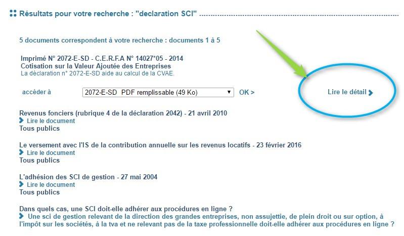 declaration 2072 sci