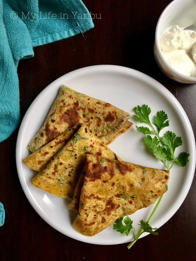 Pumpkin Paratha with Choice of Spice-mix