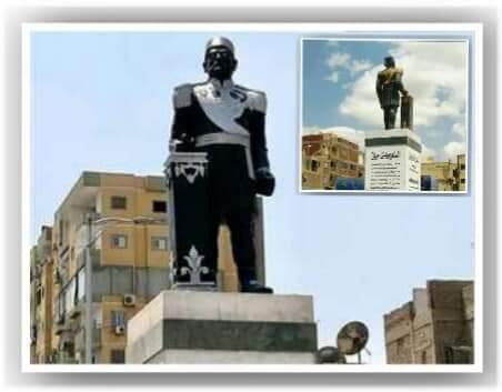 تشويه تمثال الخديو إسماعيل