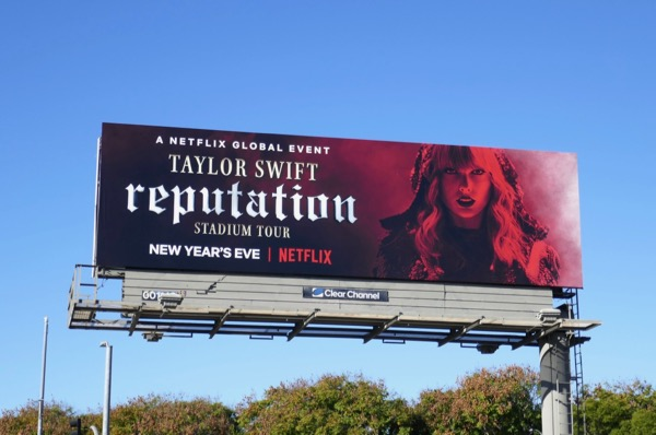 Taylor Swift Reputation Netflix billboard
