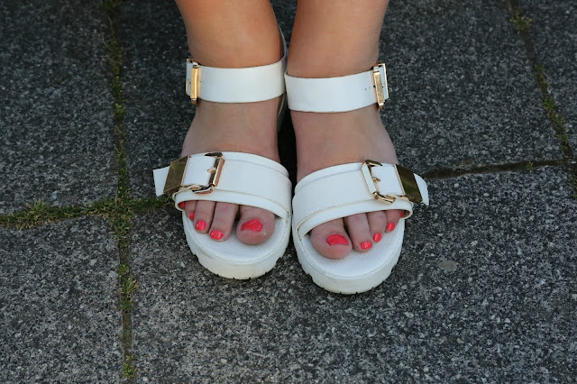 white cleated sole sandals river island