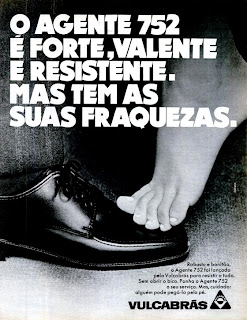 propaganda sapato 752 - Vulcabrás - 1970, propaganda anos 70; história da década de 70; Brazil in the 70s; Oswaldo Hernandez