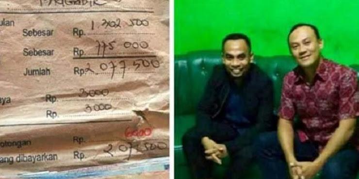 Setelah 11 Tahun Akhirnya badrun Sinbad Bisa Kembalikan Amplop Gaji Kanit Resmob Polres Malang