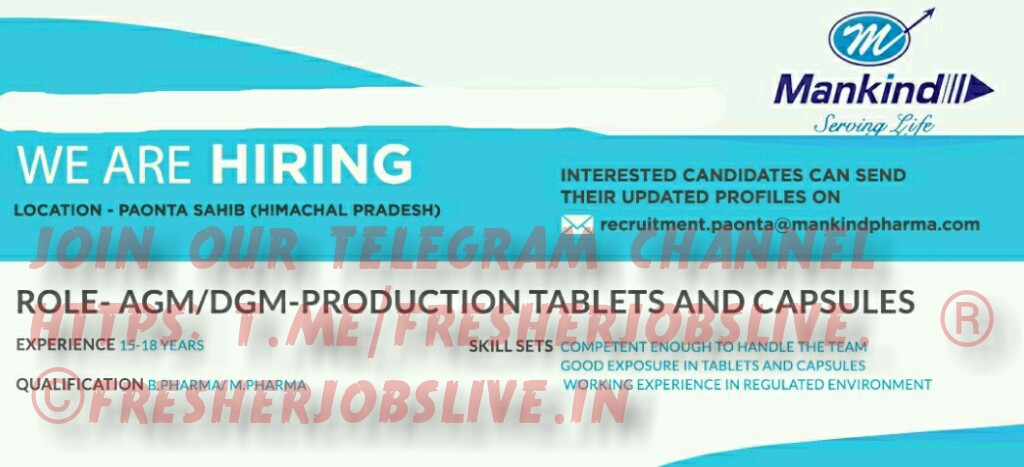 Pharma Job In Paonta Sahib